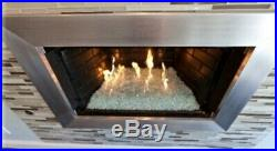 100lbs Clear Fire Glass/LP gas Fire Pit/ Clear tempered 1/4 inch crushed Glass