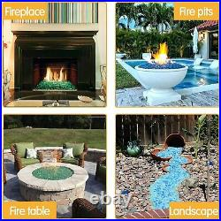 10/20/30/40/50 Pounds Gas Fire Glass Fire Pit Fireplace Crystals Rocks 1/2 inch