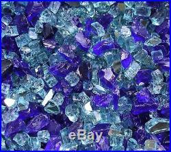 15+35#PRECIOUS BLUE MIX GLASS Fireplace Gas log FirePit