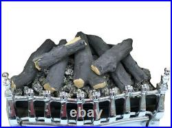 16 New Living Flame Gas Fire V8 Victorian Inset-Fire Tray Coal Or Logs