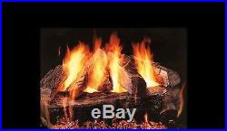 18, 24, 30 Baypointe Vented Fireplace Gas Logs Lots of Bark Detail LP or NG