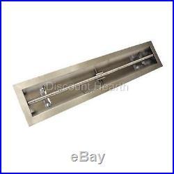 18 24 36 48 60 72 96 Stainless Steel Trough Burner Drop In Gas Burner