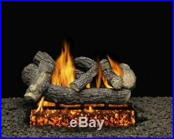 18 Clairmont Logs with Double Match Lit Burner Tube Natural Gas