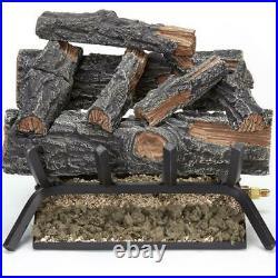 18 in. 45,000 BTU Match Light Mountain Oak Vented Natural Gas Log Set