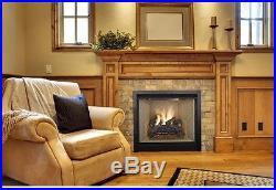 18 in. Vented Natural Gas Fireplace Log Set Oak Logs Fire Heat Insert Vent Kit