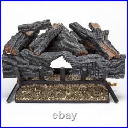 24 In. 55 000 Btu Match Light Colorado Split Wood Vented Natural Gas Log Set