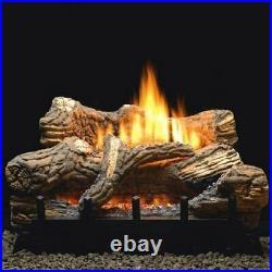 24 Inch Flint Hill Gas Log Set With Vent Free LP Contour Burner Manual Pilot