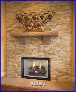24 Inch Realistic Flames Fire Split Oak Vented Natural Gas Log Set Glowing Ember