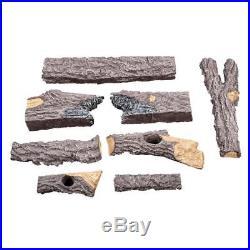 24-Inch Split Oak Logs 7-Pc Hand-Painted Vented Natural Gas Decorative Log Set