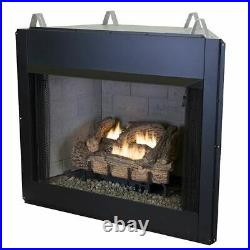 24 Millivolt EverWarm Palmetto Oak Gas Logs and EWVF36 Firebox LP