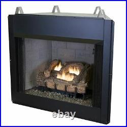 24 Millivolt EverWarm Palmetto Oak Gas Logs and EWVF36 Firebox NG
