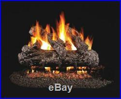 24 Rustic Oak Vented Gas Logs Real Fyre