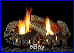 24 Stacked Aged Oak Logset with MV VF/V Slope Glaze Burner, NG