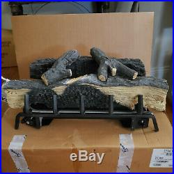 24 Vent Free Fiber Glowing LP Gas Logs works Withremote or switch. Easy install