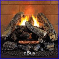 24 in. 37,500 BTU Ventless Ambient Gas Log Set Natural Gas