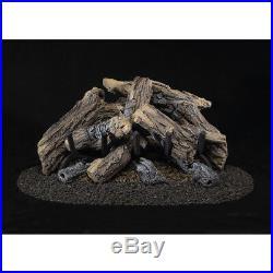 24-in 55,000-BTU Dual-Burner Vented Gas Fireplace Logs #CRHWV24RP