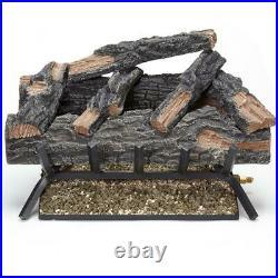 24 in. 55,000 BTU Match Light Mountain Oak Vented Natural Gas Log Set