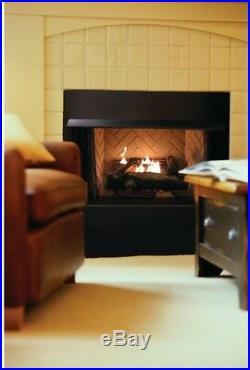24 in. Liquid Propane Gas Fireplace Logs Vent-Free U-Shaped Burner 39000 BTU/hr
