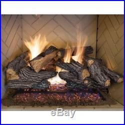 24 in. Split Oak Vented Natural Gas Log Set Dual Burner Fireplace By Emberglow