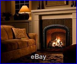 24in. Vent-Free Natural Gas Fireplace Logs Log Set DIY Insert Heat Kit Burner