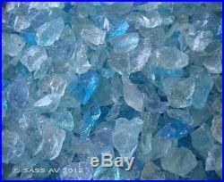 25 Lbs BAHAMA MIX FIREGLASS 3/8-1/2 Fireplace Glass Gas Fire Pit Glass Rocks