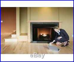 30In Large Vent Free LP Propane Gas Fireplace Logs Remote Fire Glass Grate Heat