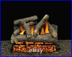 30 Dundee Oak Logs with Double Match Lit Burner Tube Natural Gas