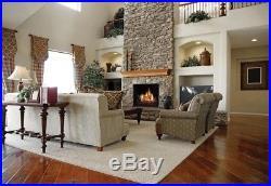 30 Large Ventless Natural Gas Fireplace Log Set Premium Decorative Logs Insert