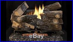30 Massive Mixed Oak Gas Log Set withTF2430 Variable Burner NG