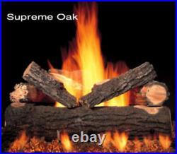 30 Ultra Fyre Supreme Oak Gas Logs By Portland Willamette, Logs Only