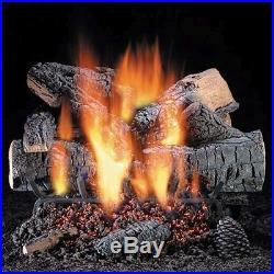 30 Windsor Premium Oak See Thru Gas Logs with Safety Pilot LP
