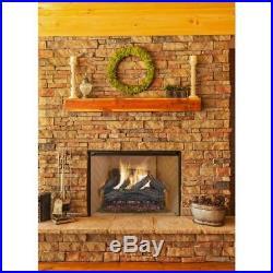 30 in. Charred River Oak Vented Natural Gas Fireplace Logs Set 70,000 BTU's