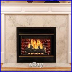 30 in. Vented Natural Gas Fireplace Logs Insert Kit Heater Convert Realistic New
