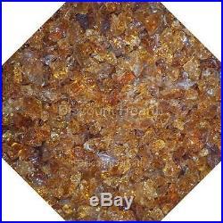 3/4 Amber Fire Glass Fireglass Fire Pit Fireplace Glass Crystals Gas Logs