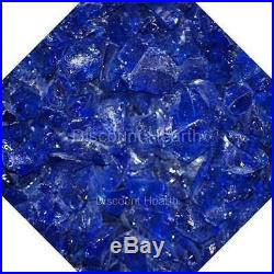 3/4 Cobalt Blue Fire Glass Fireglass Fire Pit Fireplace Glass Crystals Gas Logs