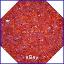 3/4 Orange Twist Fire Glass Fireglass Fire Pit Fireplace Glass Crystals Gas Log