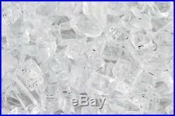 50 LBS 1/4 CRYSTAL ICE, STARFIRE FIREGLASS, Gas Fireplace Fire Pit Glass Rocks