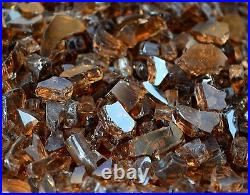 50 Lbs 1/4 COPPER REFLECTIVE, Gas Fireplace, Fire Pit Glass Rocks Crystals