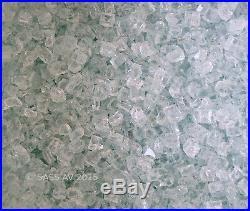 50 Lbs 3/8 CLEAR FIREGLASS Fireplace Gas Fire Pit Glass Aqua tint