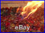 50 Lbs. Fireglass Large Sunshine MIX Gas Fireplace Fire Pit Gas Logs