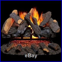 55000 Btu Realistic Vented Natural Gas Fireplace Log Set Home Room Space Heater