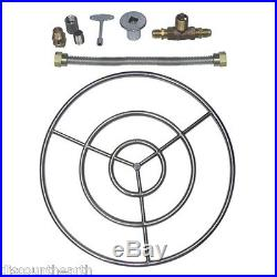 6 12 18 24 30 36 48 Stainless Steel Gas Fire Pit Burner Ring Kit for LP