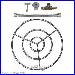 6 12 18 24 30 36 48 Stainless Steel Gas Fire Pit Burner Ring Kit for NG