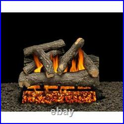 AMERICAN GAS LOG Dundee Oak Vented Propane Gas Fireplace Log Set with Complete