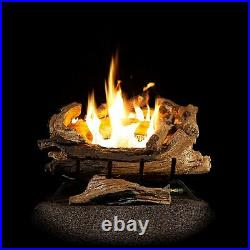 American Elm Vent Free Gas Log Set Insert with REMOTE AEVF18FANG Natural Gas