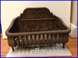 Swell Antique Black Cast Iron Fireplace Basket Box Grate For Gas Download Free Architecture Designs Terstmadebymaigaardcom
