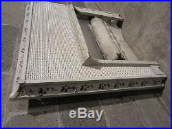 Antique Cast Iron Fireplace Insert Gas Logs Ornate Architectural Salvage