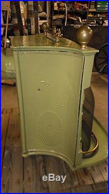 Antique Restored Portland Stove Foundry Co. Fireplace/gas Logs