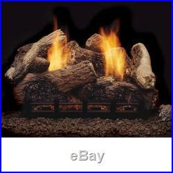 Berkley Oak Remote Control Vent Free Gas Logs 24 Propane Gas