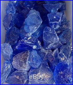 Blue Fire glass for your Gas Fireplace, Gas Logs or Fire Pits Large 1 2